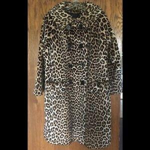 Authentic Vintage 50s Heavy Faux Leopard Coat!